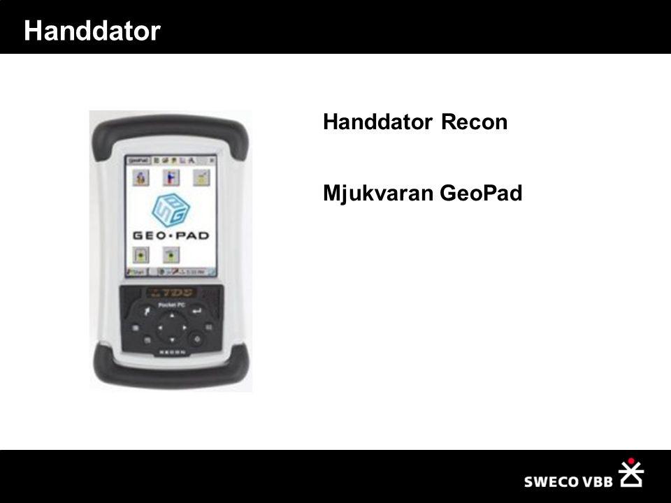 Handdator Handdator Recon Mjukvaran GeoPad