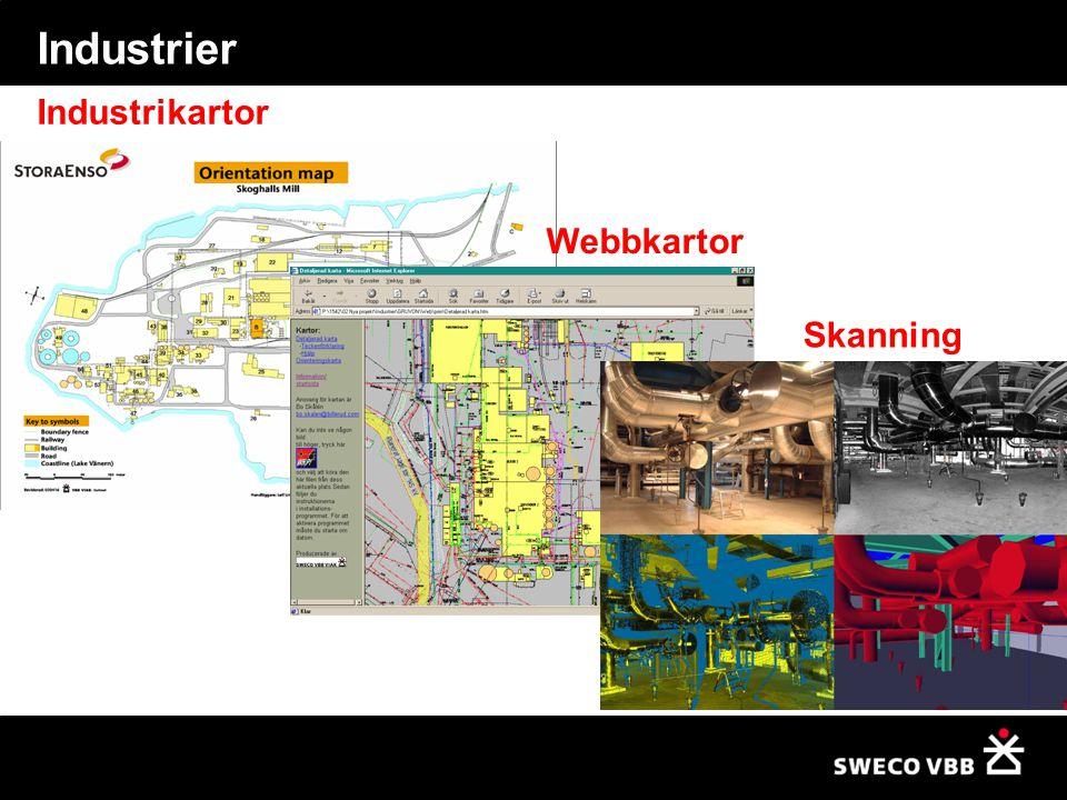 Industrier Industrikartor Webbkartor Skanning