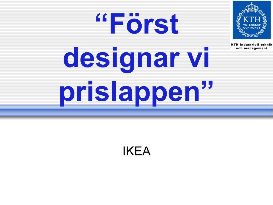Först designar vi prislappen IKEA