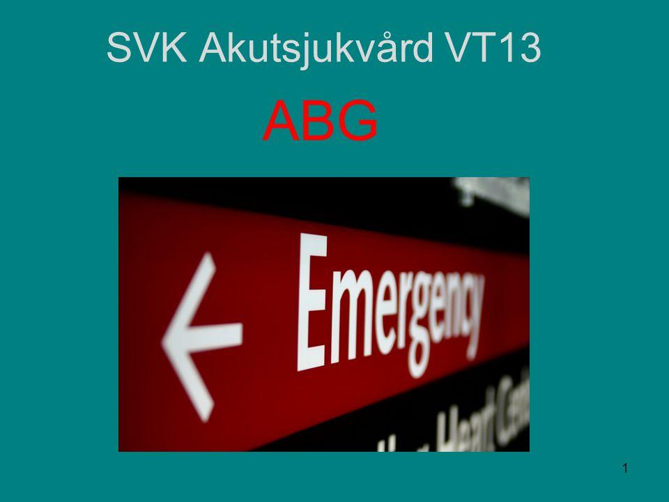SVK Akutsjukvård VT13 ABG 1
