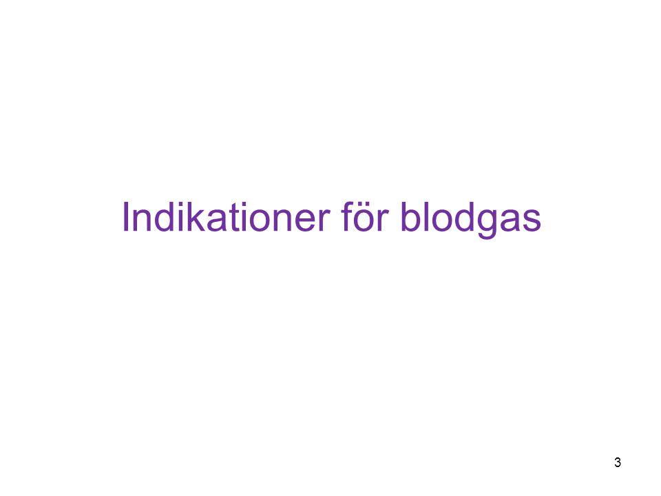 Indikationer för blodgas 3