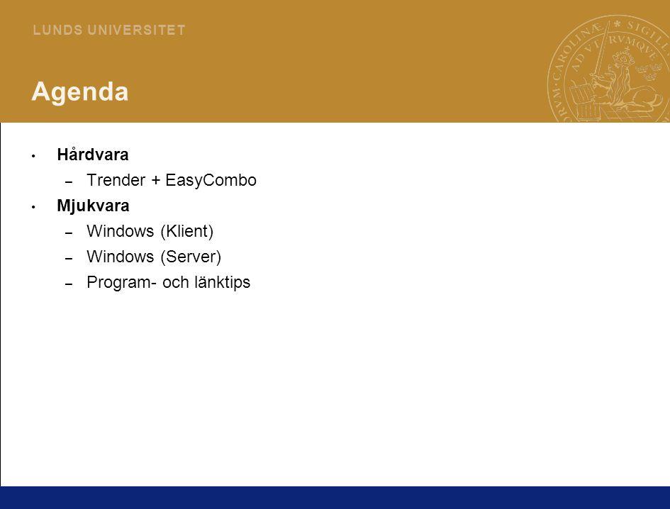 3 L U N D S U N I V E R S I T E T H Å R D V A R A Trender + EasyCombo Ny Centrino-plattform för bärbara datorer från Intel – Centrino Pro – Core 2 Duo-processorer – Fjärr-administration och offline-patchning (Intel Vpro) OLED-skärmar – Ersättare till LCD-skärmar – Fördelar: Kan göras tunnare (använder ej bakgrundsbelysning) Drar mindre ström Större betrakningsvinkel/bättre kontrast – Nackdelar: Sämre livslängd Dyrare/ej storproduktion EasyCombo – Anslut IDE och SATA-diskar till datorn via extern USB-kontakt (349:-)