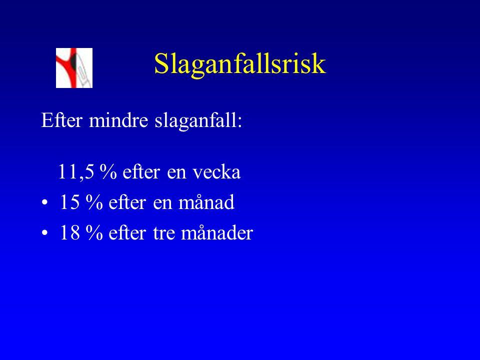 Praktisk handläggning Symtomgivande stenos >ca 70%: snarast remiss till kärlklinik (fax 38096) el till NL- mott