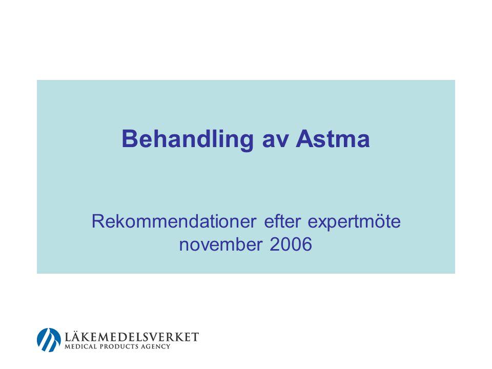 2 Huvudbudskap, I Astma är ingen enhetlig sjukdom och kan variera över såväl kort som lång tid.