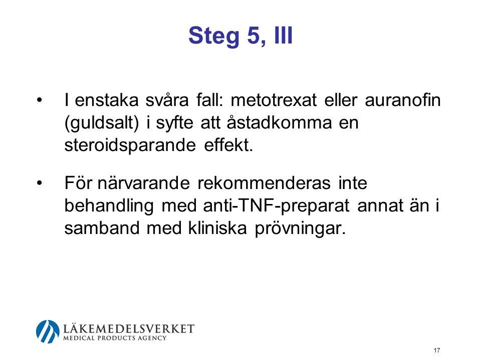 18 Vårdnivå Steg 1-3: bör behandlas i primärvården.