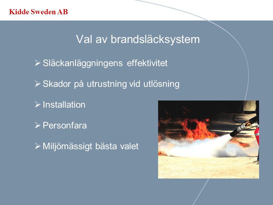 Kidde Sweden AB Acceptens  Standarder  Myndighetsföreskrifter  SBF - Regler  Besiktningar  Brandkåren