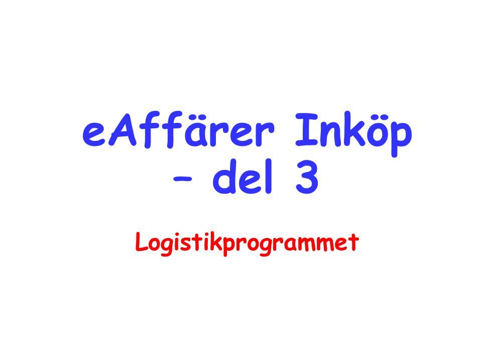 eAffärer Inköp – del 3 Logistikprogrammet