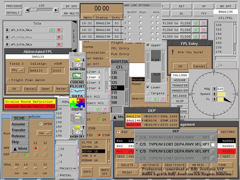 Air Situation Display Toolbar ( verktyg för radarbilden ) lKan tas fram var som helst inom radarfönstret lAnvänder passiv fokusering lGer access till alla komponenter som konfigurerar radar-bilden lFlexibel