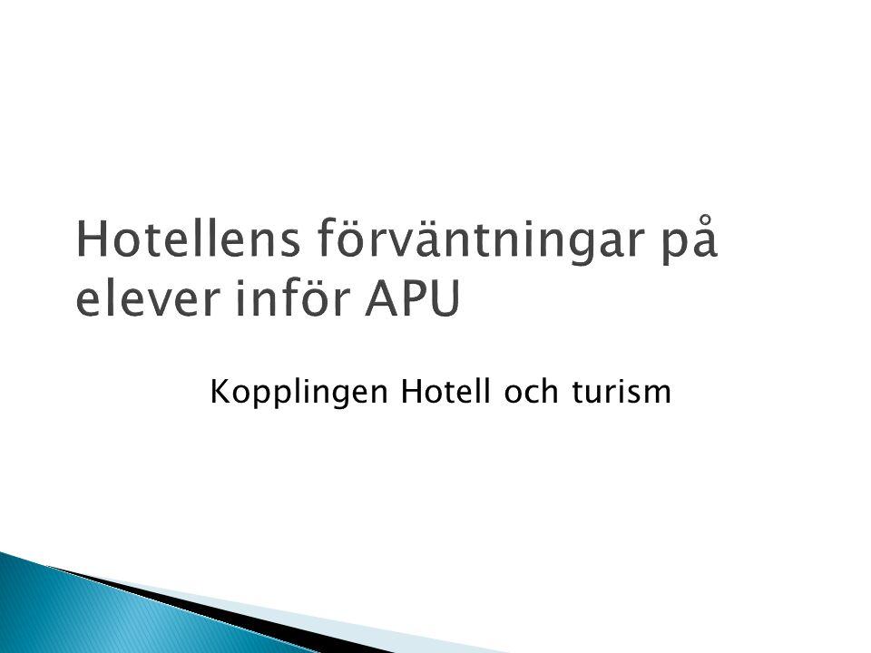 Kopplingen Hotell och turism