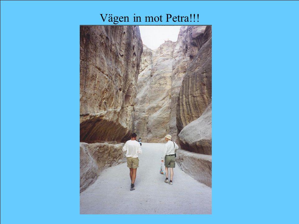 Vägen in mot Petra!!!