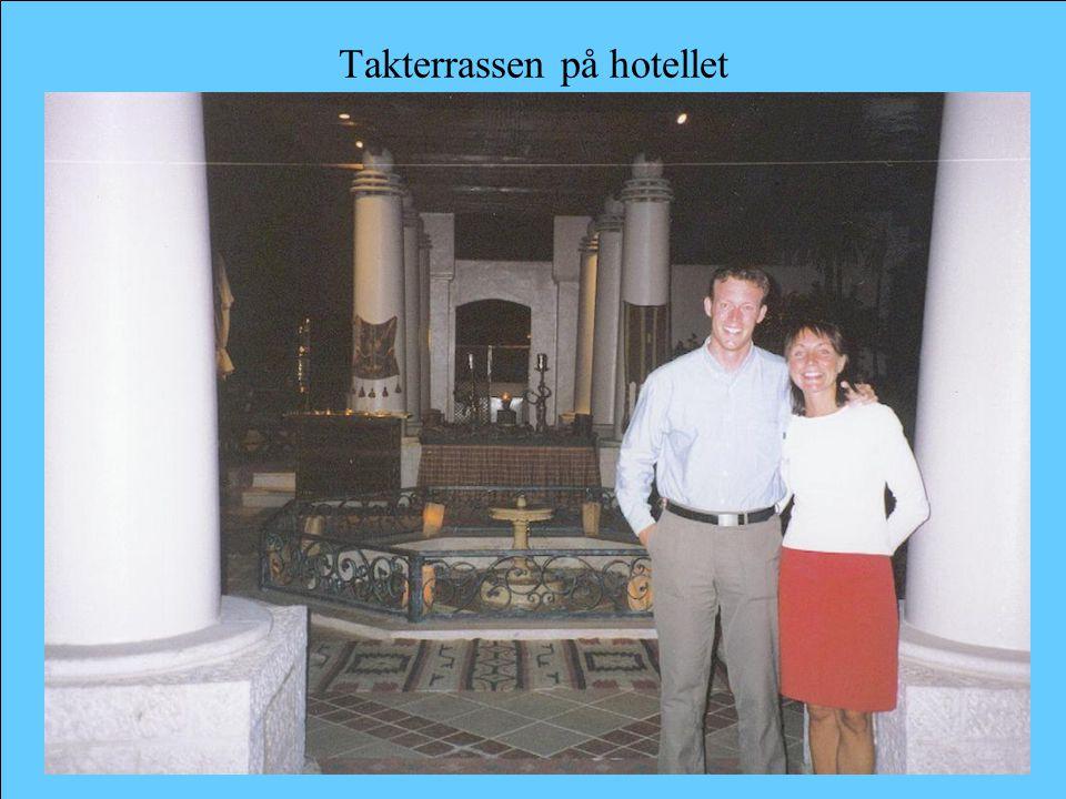 Takterrassen på hotellet