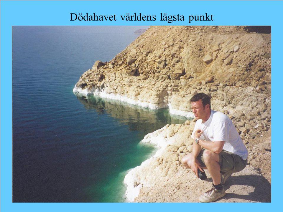 Dödahavet världens lägsta punkt