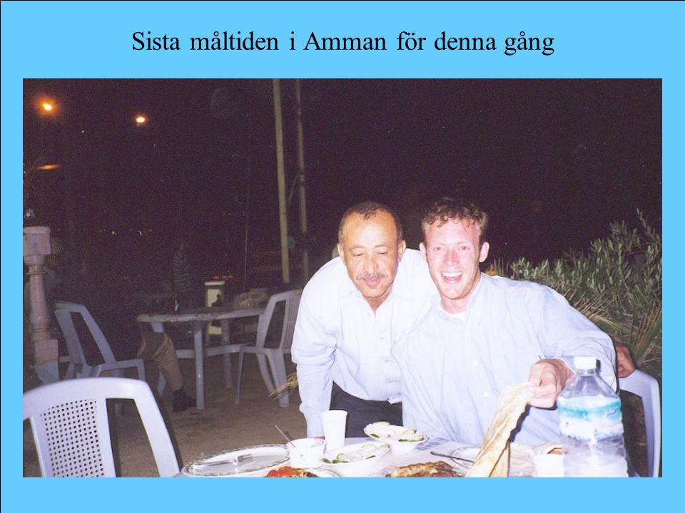 Sista måltiden i Amman för denna gång
