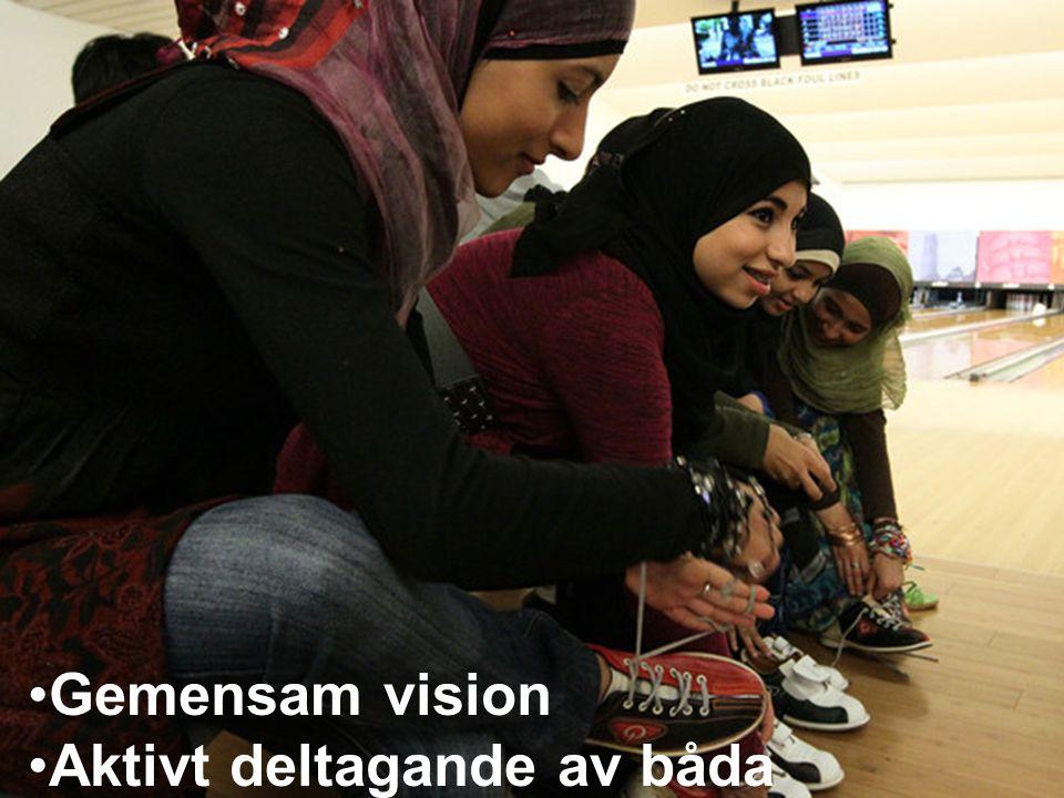 Gemensam vision Aktivt deltagande av båda