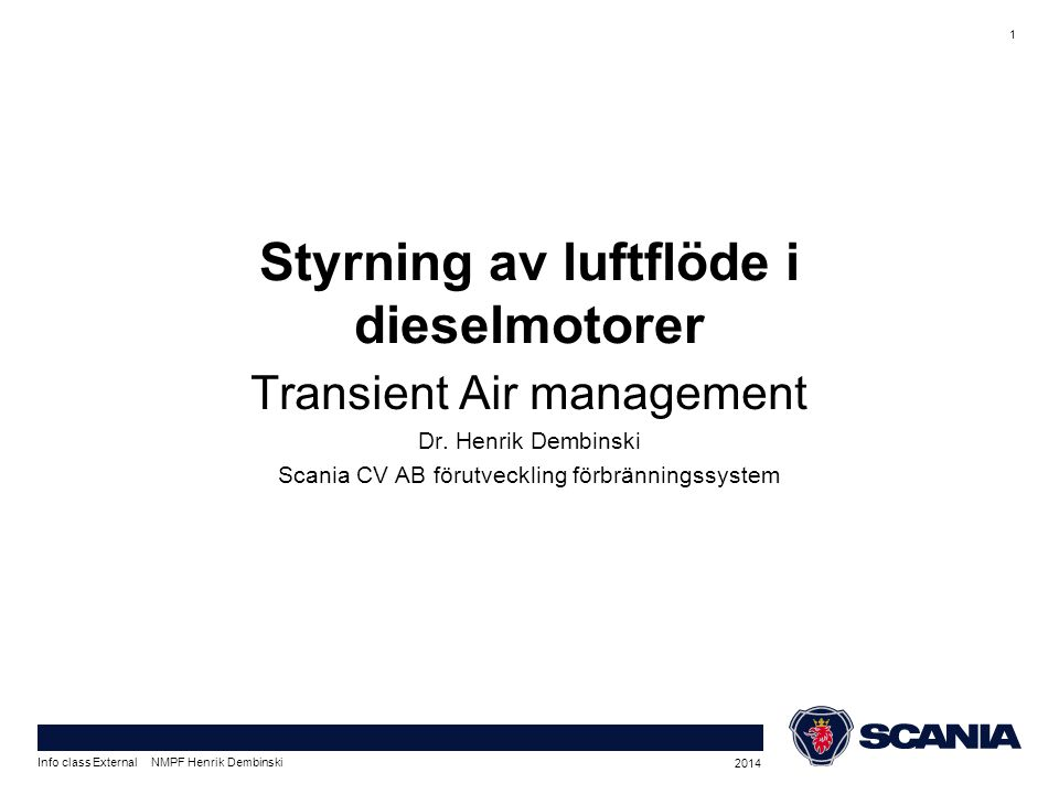 Transient Air management Dr.