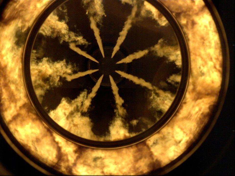 Combustion image velocimetry, CIV 4 Korskorrelation av förbränningsbilder Flödesdata erhålls under förbränning och efteroxidation upp till fullast.