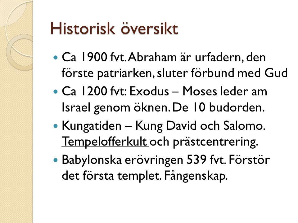 Historisk översikt Ca 1900 fvt.
