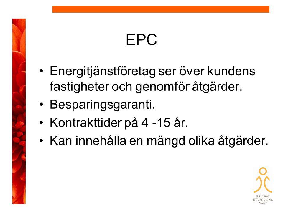 EPC Energitjänstföretag ser över kundens fastigheter och genomför åtgärder.