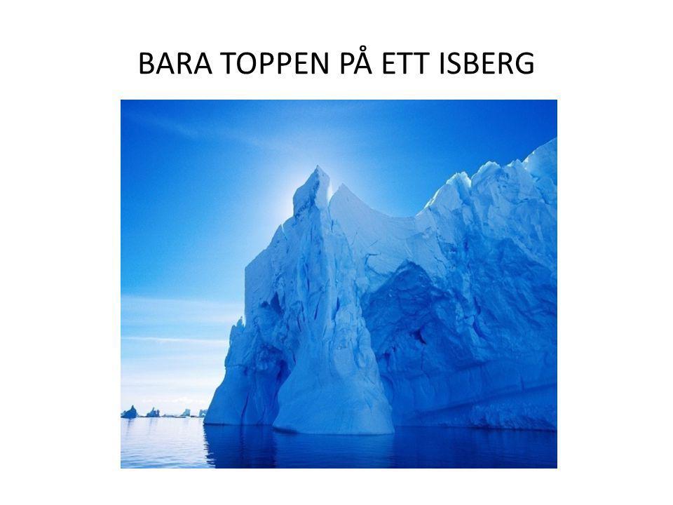 BARA TOPPEN PÅ ETT ISBERG