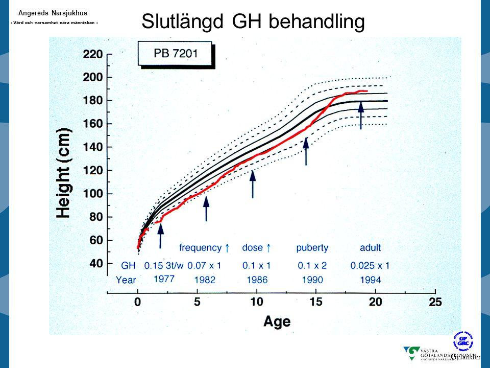 Angereds Närsjukhus - Vård och varsamhet nära människan - Slutlängd GH behandling Gelander