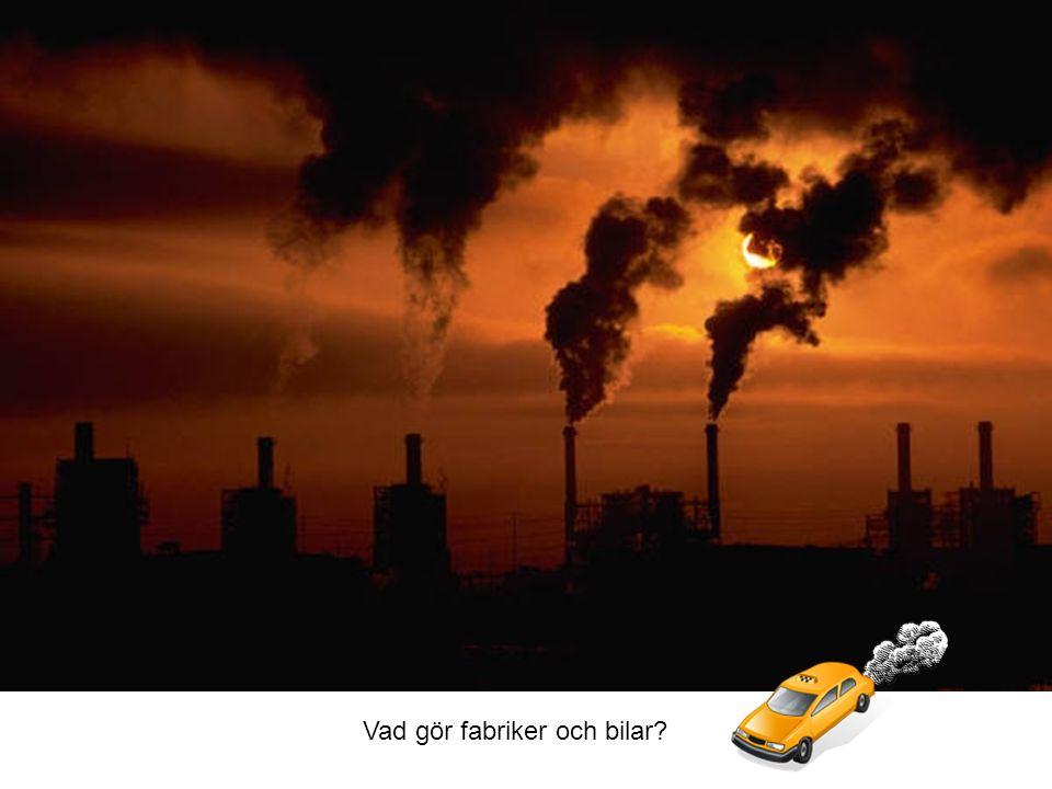 Vad gör fabriker och bilar?
