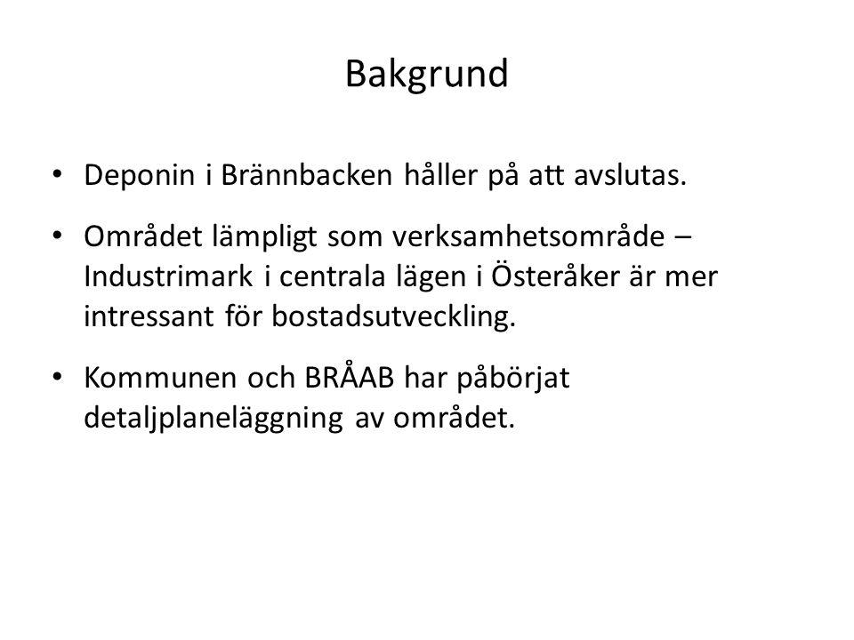 Bakgrund Deponin i Brännbacken håller på att avslutas.