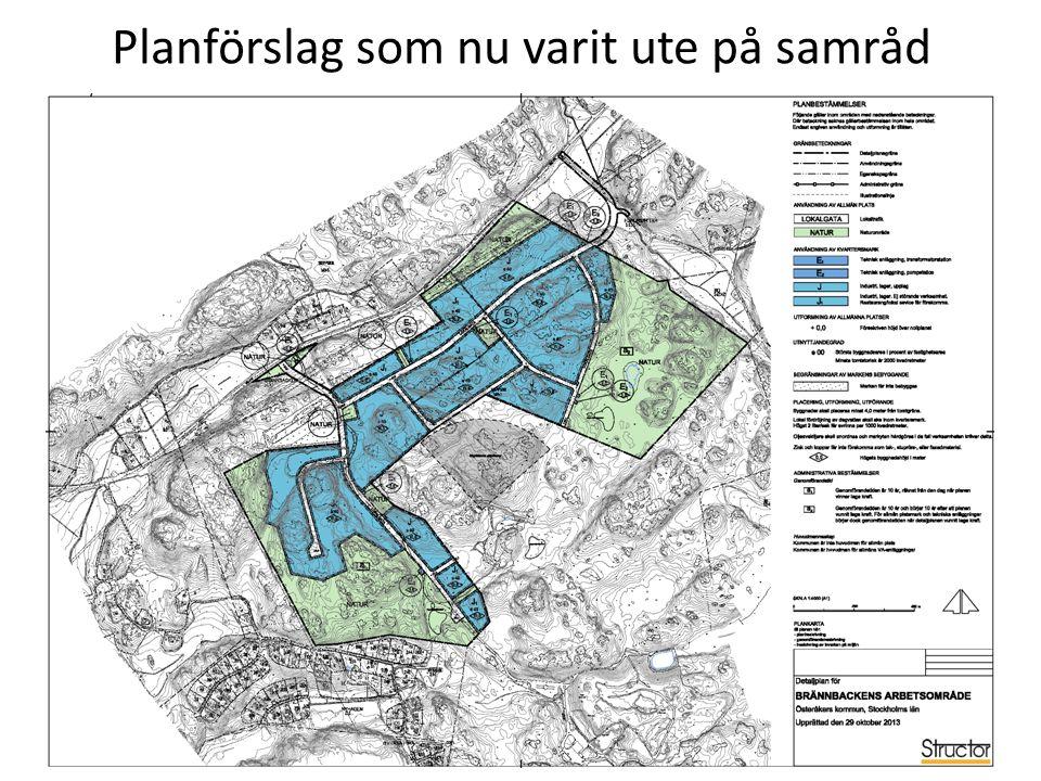 Planförslag som nu varit ute på samråd 1 2 3