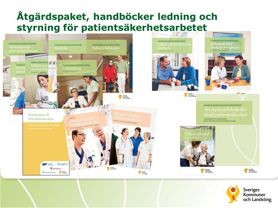 Åtgärdspaket, handböcker ledning och styrning för patientsäkerhetsarbetet