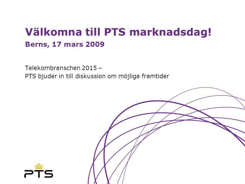 Välkomna till PTS marknadsdag.