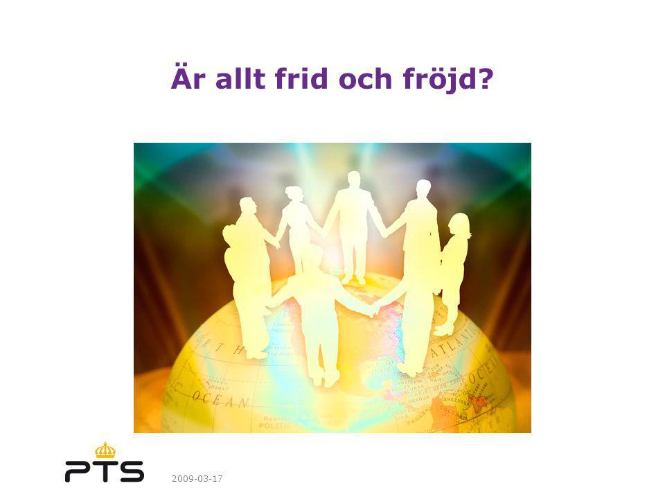 2009-03-17 Är allt frid och fröjd?