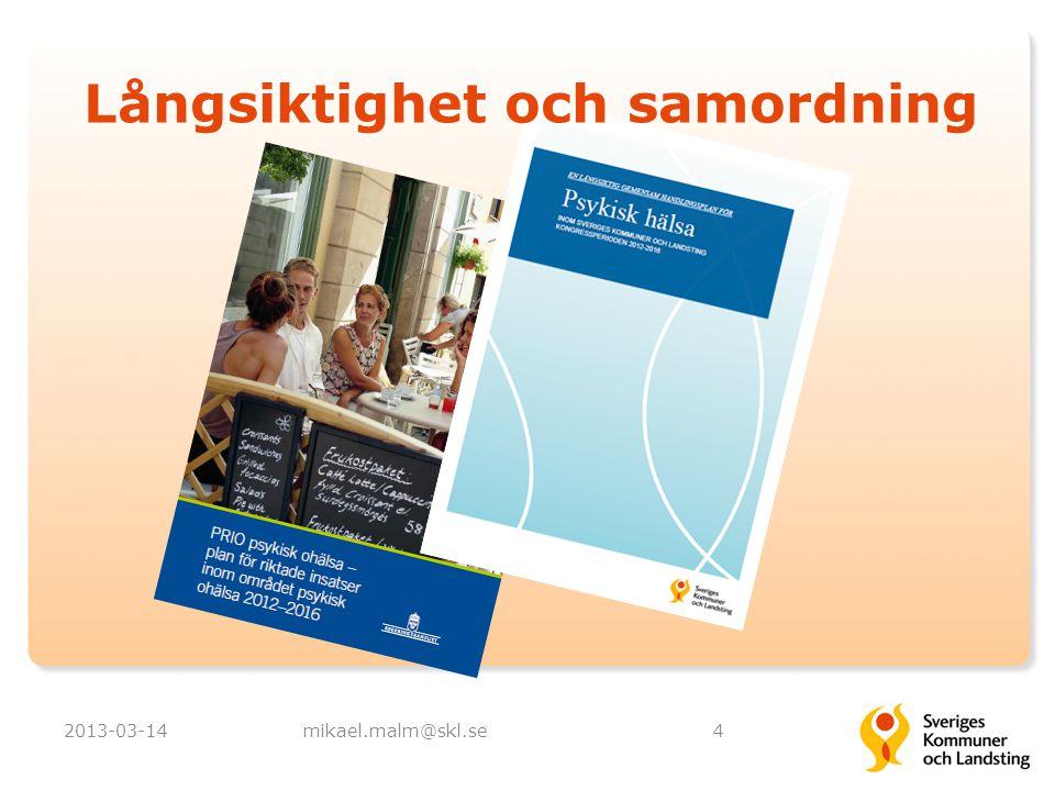 2013-03-14mikael.malm@skl.se4 Långsiktighet och samordning
