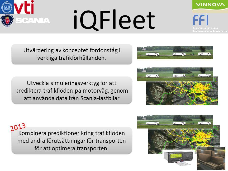 Utvärdering av konceptet fordonståg i verkliga trafikförhållanden. Utveckla simuleringsverktyg för att prediktera trafikflöden på motorväg, genom att