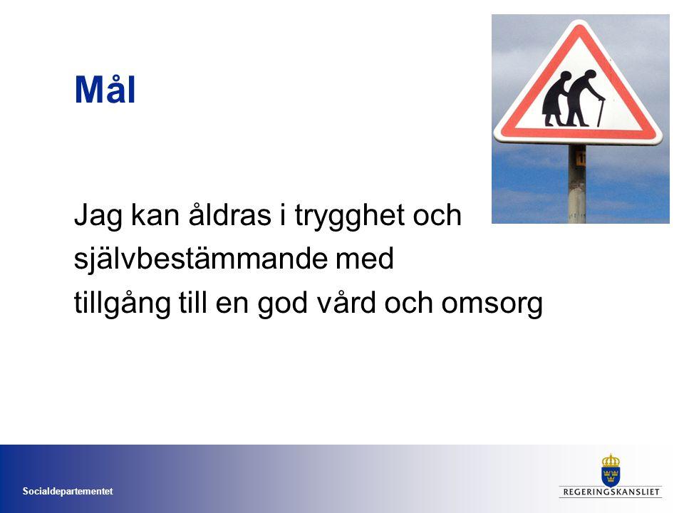 Ministry of Health and Social Affairs Sweden God vård vid demenssjukdom Tidig diagnos Strukturerad vård och omsorg Nationella riktlinjer Svenska demensregistret BPSD registret Utbildning