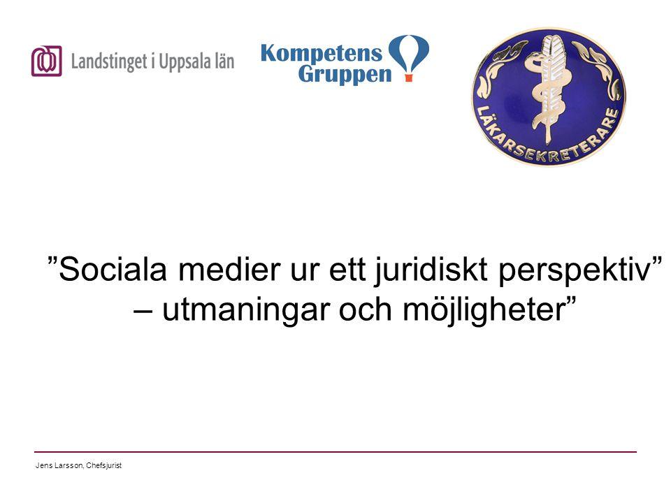 """""""Sociala medier ur ett juridiskt perspektiv"""" – utmaningar och möjligheter"""""""