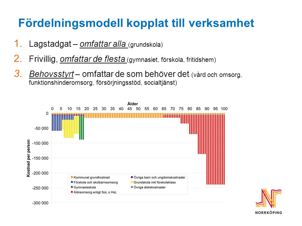Tröskelkostnader – olika förutsättningar för kommunerna Vem kan ha en generell fördelningsmodell?