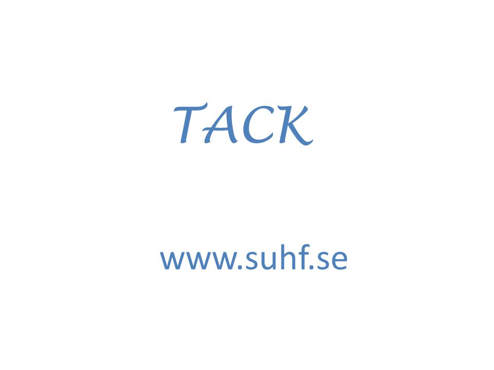 TACK www.suhf.se