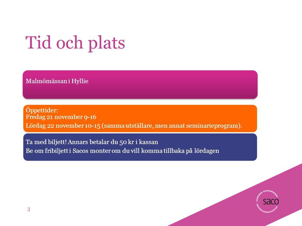 | Föredragsnamn, Föredragshållare, ååmmdd Tid och plats Malmömässan i Hyllie Öppettider: Fredag 21 november 9-16 Lördag 22 november 10-15 (samma utställare, men annat seminarieprogram).