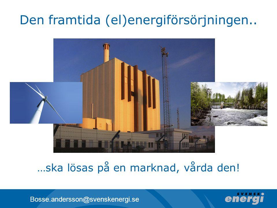 Den framtida (el)energiförsörjningen..