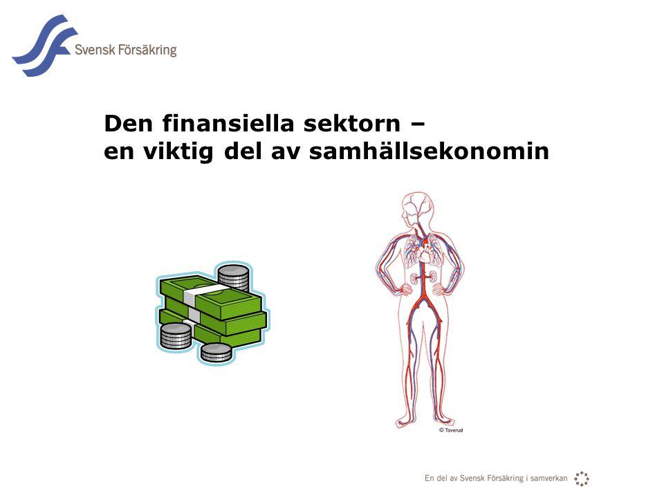 En del av svensk Försäkring i samverkan Den finansiella sektorn – en viktig del av samhällsekonomin