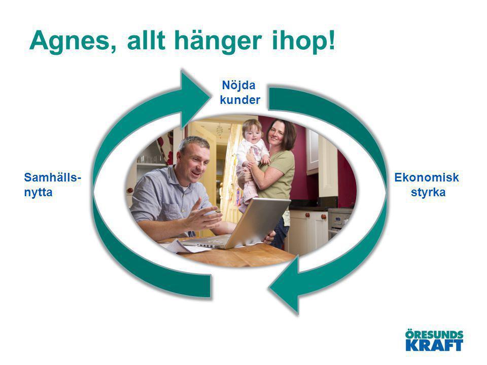 Agnes, allt hänger ihop! Nöjda kunder Ekonomisk styrka Samhälls- nytta
