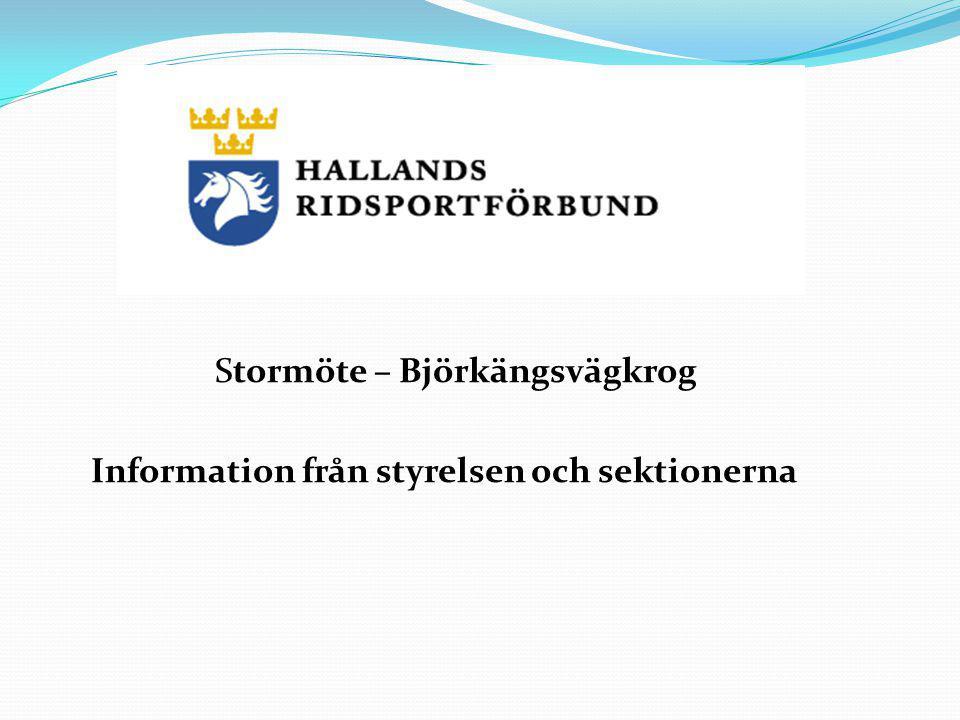 Stormöte – Björkängsvägkrog Information från styrelsen och sektionerna