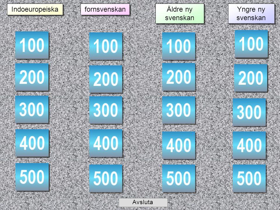 Ämne 1 – 100 Frågan Svaret