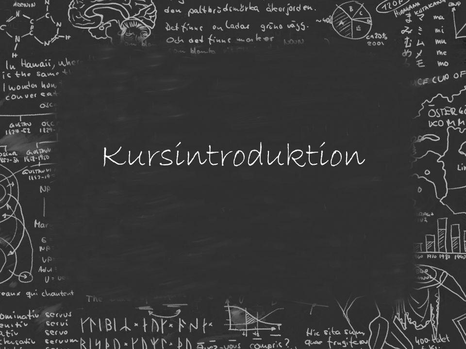 Kursintroduktion