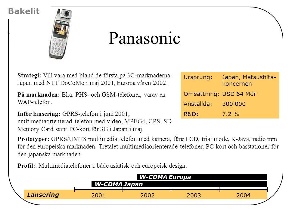 Prototyper: GPRS/UMTS multimedia telefon med kamera, färg LCD, trial mode, K-Java, radio mm för den europeiska marknaden. Tretalet multimediaorientera