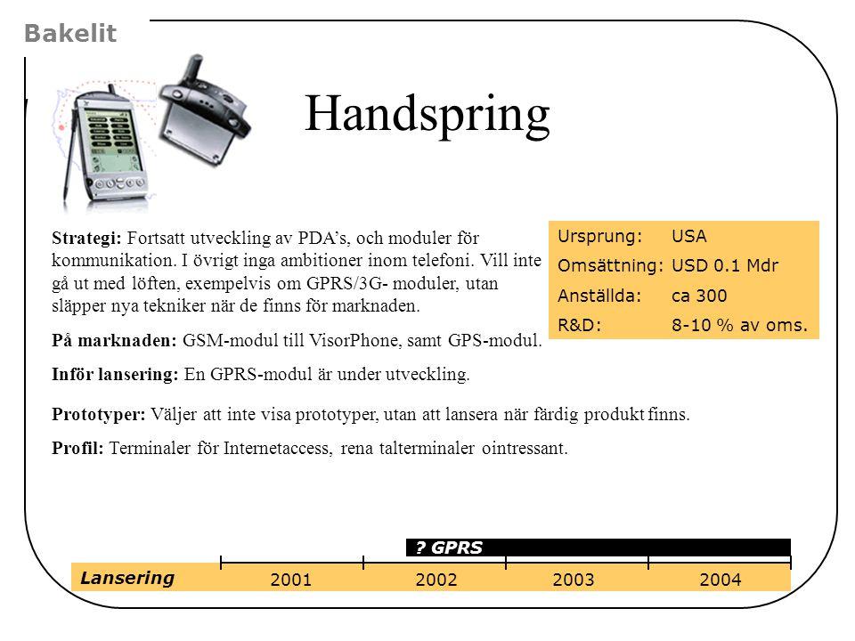 Strategi: Fortsatt utveckling av PDA's, och moduler för kommunikation. I övrigt inga ambitioner inom telefoni. Vill inte gå ut med löften, exempelvis