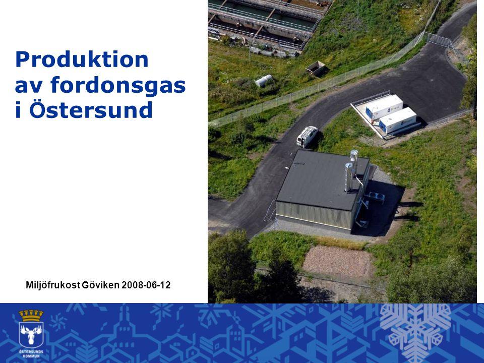 Miljöfrukost Göviken 2008-06-12 Produktion av fordonsgas i Ö stersund