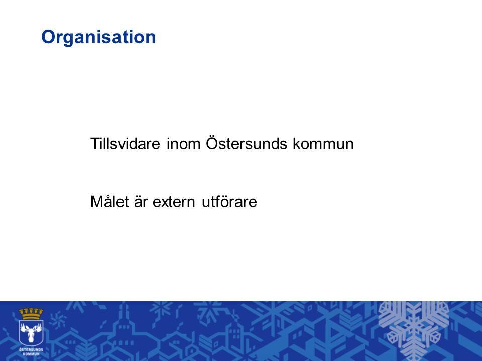 Tillsvidare inom Östersunds kommun Målet är extern utförare Organisation