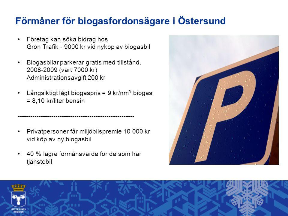 Företag kan söka bidrag hos Grön Trafik - 9000 kr vid nyköp av biogasbil Biogasbilar parkerar gratis med tillstånd.