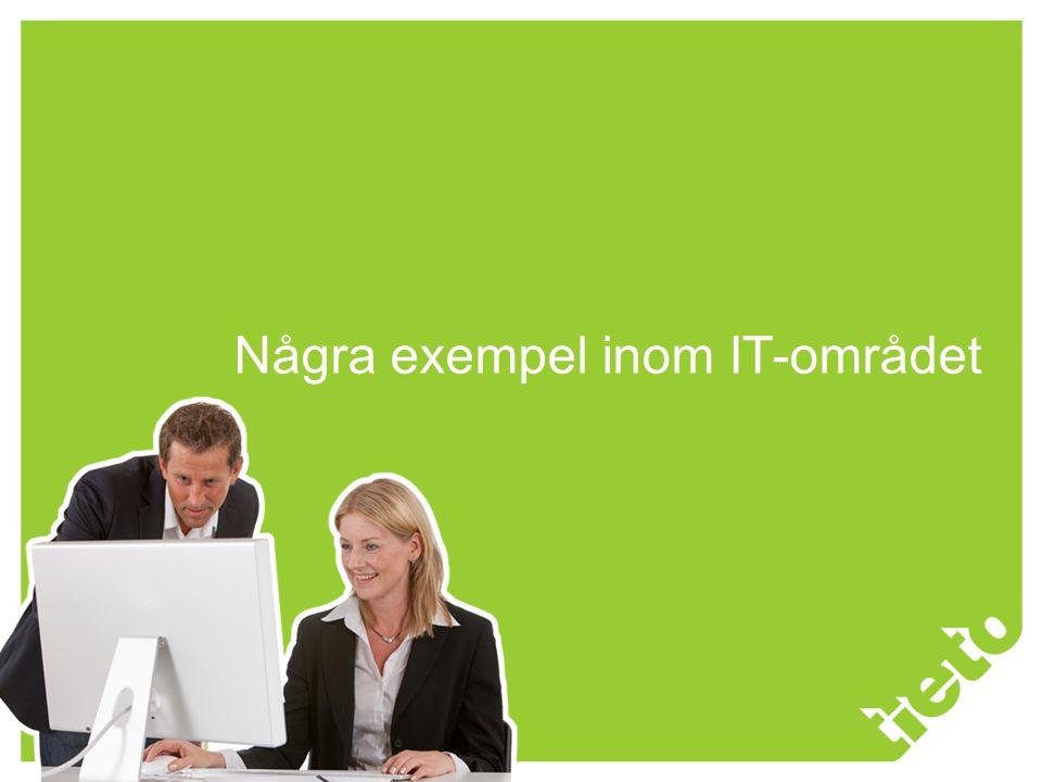 © 2009 Tieto Corporation Några exempel inom IT-området
