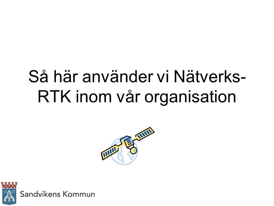 Så här använder vi Nätverks- RTK inom vår organisation